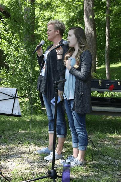 Lydia & Erin Performing